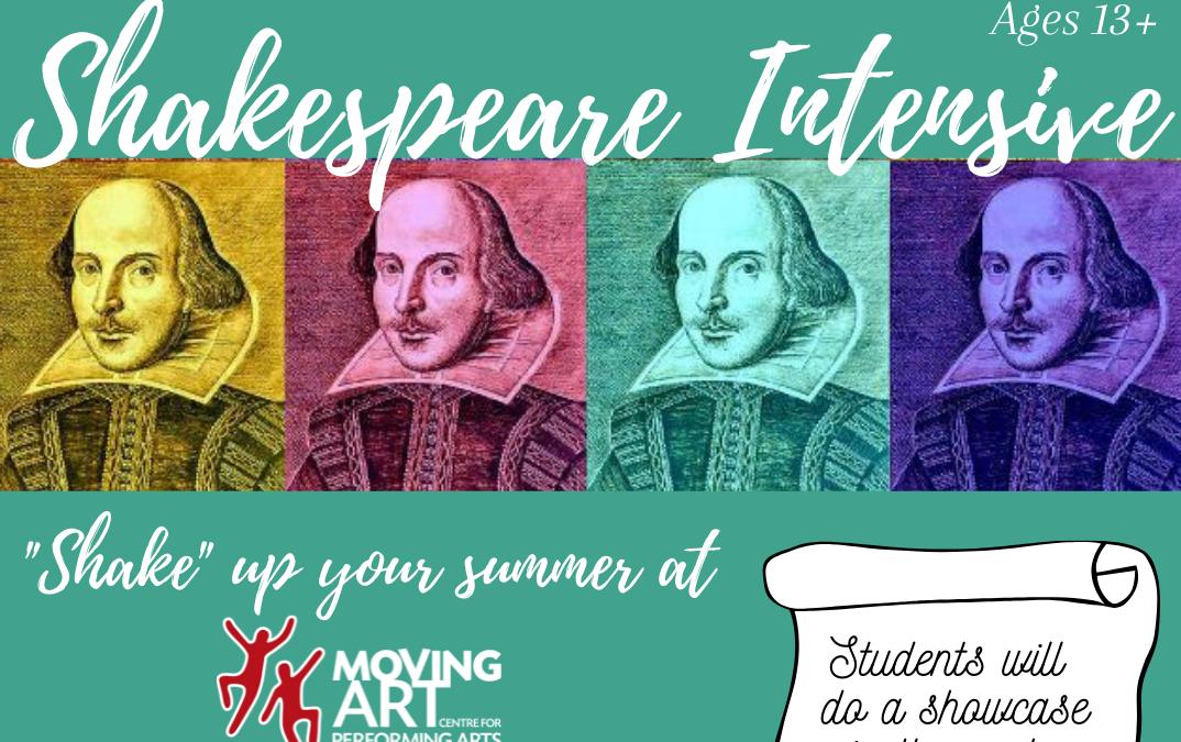 Shakespeare Intensive! Aug 21-22